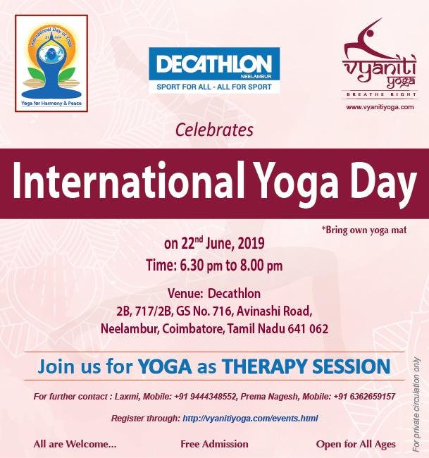 (IYD AT COIMBATORE)-International Yoga Day – (TN – INDIA)