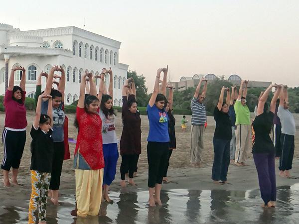 yoga beach side